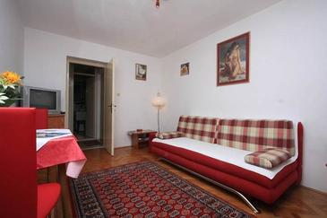 Dubrovnik, Living room in the apartment, (pet friendly) and WiFi.