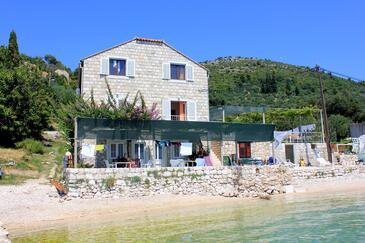 Slađenovići, Dubrovnik, Obiekt 2161 - Pokoje przy morzu ze żwirową plażą.