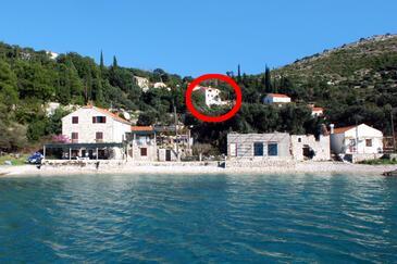 Slađenovići, Dubrovnik, Objekt 2162 - Ubytování v blízkosti moře s oblázkovou pláží.