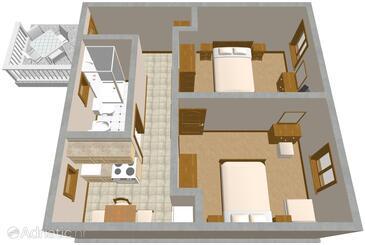 Suđurađ, Plan in the apartment.