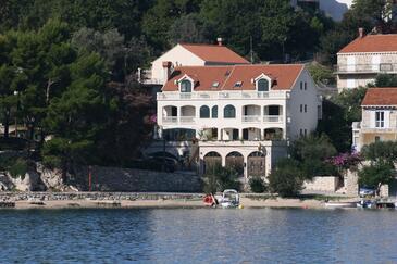 Slano, Dubrovnik, Obiekt 2178 - Kwatery przy morzu ze żwirową plażą.
