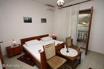 Slano, Ložnice v ubytování typu room, s klimatizací, domácí mazlíčci povoleni a WiFi.