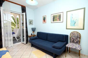 Slano, Pokój dzienny w zakwaterowaniu typu apartment, dostupna klima, dopusteni kucni ljubimci i WIFI.