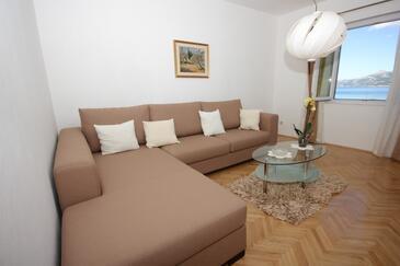 Koločep, Obývací pokoj v ubytování typu apartment, domácí mazlíčci povoleni a WiFi.