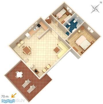 Jadrija, Plan in the apartment, WIFI.
