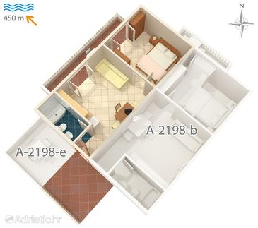Mali Lošinj, Plan in the apartment, (pet friendly) and WiFi.