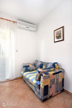 Rovinj, Living room in the studio-apartment, dopusteni kucni ljubimci i WIFI.