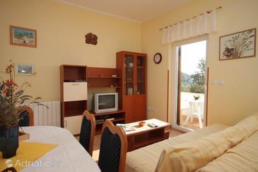 Manjadvorci, Living room in the apartment, dostupna klima i WIFI.