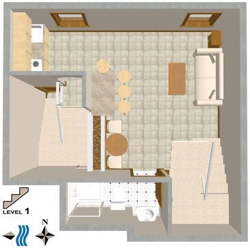 Rovinj, Plan kwatery w zakwaterowaniu typu apartment, dopusteni kucni ljubimci.