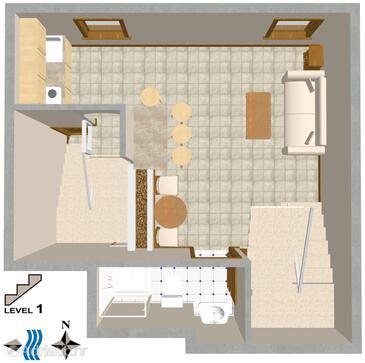 Rovinj, Plan in the apartment, dopusteni kucni ljubimci.