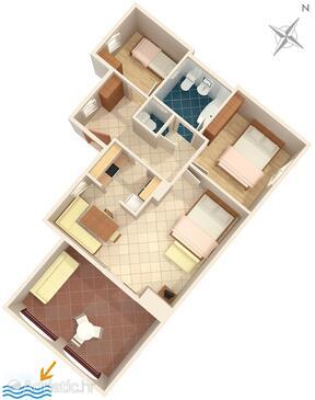 Premantura, План в размещении типа apartment, Домашние животные допускаются и WiFi.