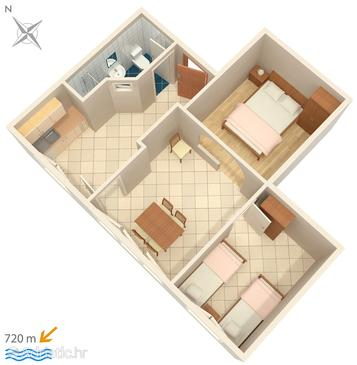 Rovinj, План в размещении типа apartment, WiFi.