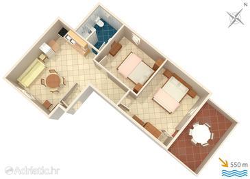 Premantura, Plan in the apartment, dopusteni kucni ljubimci i WIFI.