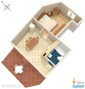 Medulin, План в размещении типа apartment, WiFi.
