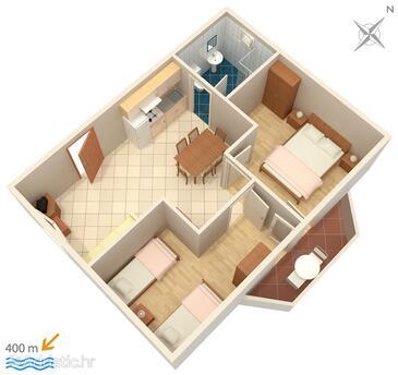 Medulin, Plan in the apartment, WiFi.