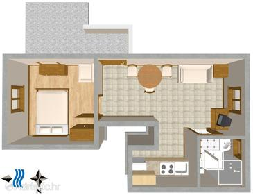 Valbandon, Plan in the apartment, WIFI.