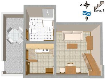 Červar, Plan kwatery w zakwaterowaniu typu house.
