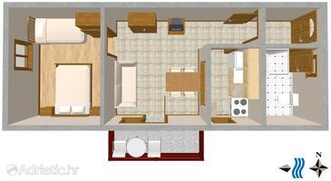 Poreč, Plan in the apartment, WIFI.
