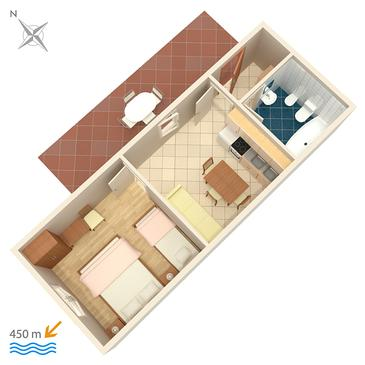 Valbandon, Plan in the apartment, dopusteni kucni ljubimci.