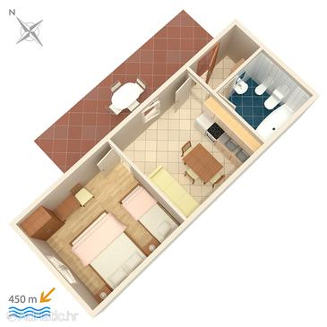 Valbandon, Plan in the apartment, dopusteni kucni ljubimci.