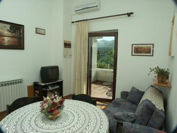 Ičići, Living room in the apartment.