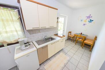 Povljana, Kuchyně v ubytování typu apartment, WiFi.