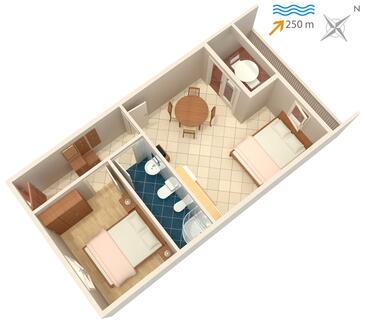 Rabac, Plan in the apartment, WIFI.