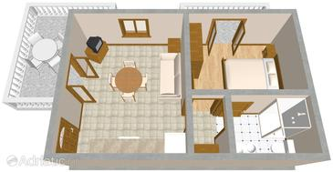 Duga Luka (Prtlog), Plan in the apartment.