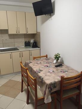 Stara Novalja, Jedáleň v ubytovacej jednotke apartment, dopusteni kucni ljubimci i WIFI.