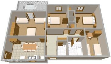 Mošćenička Draga, Plan in the apartment.