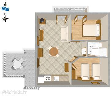 Novi Vinodolski, План в размещении типа apartment, Домашние животные допускаются и WiFi.