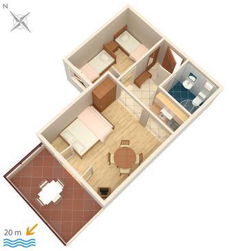Crikvenica, Načrt v nastanitvi vrste apartment, Hišni ljubljenčki dovoljeni in WiFi.