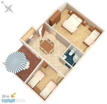 Crikvenica, Plan in the apartment, WiFi.