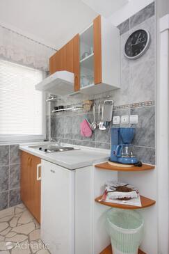 Selce, Kuchyně v ubytování typu studio-apartment, WiFi.