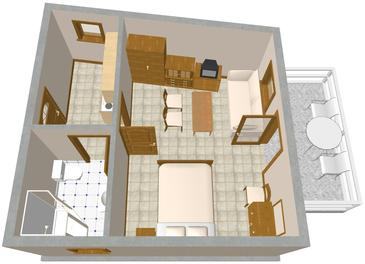 Lovran, Plan in the apartment, WIFI.