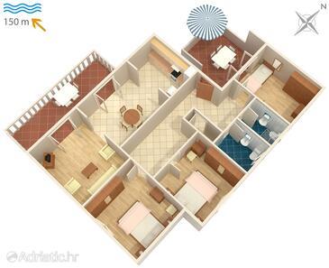 Duga Luka (Prtlog), Načrt v nastanitvi vrste apartment, WiFi.