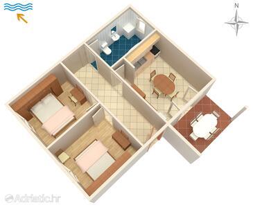 Šimuni, Plan in the apartment, WiFi.