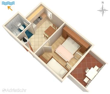 Šimuni, План в размещении типа apartment, WiFi.