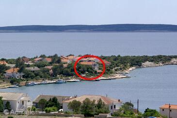 Šimuni, Pag, Объект 236 - Апартаменты вблизи моря с галечным пляжем.