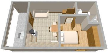 Presika, Plan in the apartment, dopusteni kucni ljubimci i WIFI.