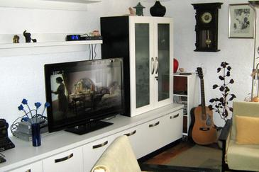 Novi Vinodolski, Obývací pokoj v ubytování typu studio-apartment, s klimatizací a WiFi.