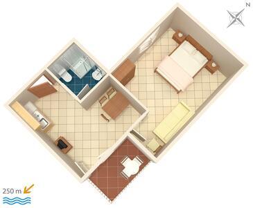 Selce, Načrt v nastanitvi vrste apartment.