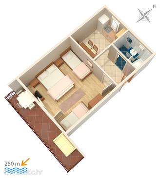 Selce, Plan in the apartment.
