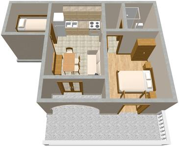 Povile, Plan kwatery w zakwaterowaniu typu apartment, WIFI.