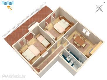 Sveti Juraj, Plan dans l'hébergement en type apartment, WiFi.