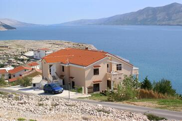 Zubovići, Pag, Property 240 - Apartments near sea with pebble beach.