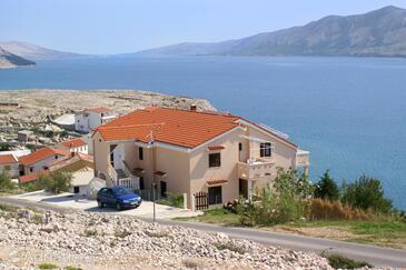 Zubovići, Pag, Объект 240 - Апартаменты вблизи моря с галечным пляжем.