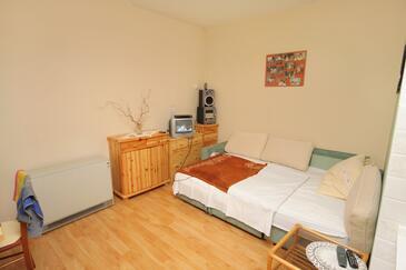Selce, Living room in the apartment, dopusteni kucni ljubimci i WIFI.