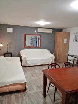 Rukavac, Dnevna soba v nastanitvi vrste apartment, dostopna klima in WiFi.
