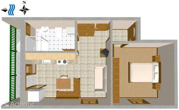 Vis, Nacrt u smještaju tipa apartment, kućni ljubimci dozvoljeni i WiFi.